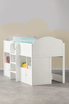 Amelia White Cabin Bed