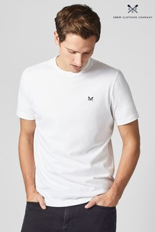 Crew Clothing Company White Crew Classic T-Shirt