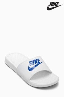 Nike Benassi Just Do It. Pantolette für Herren, Marineblau