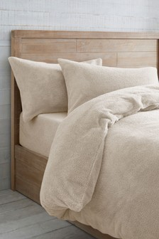 Teddy Fleece Duvet Cover And Pillowcase Set