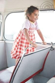 Little Bird Sommerkleid mit gezurrtem Design und Vichykaros