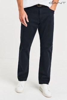 Gant marineblauw desert twill jeans met rechte pasvorm