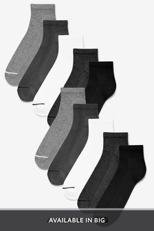 Mid Cut Sports Socks Ten Pack