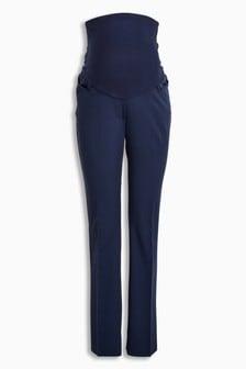 Расклешенные брюки для беременных с высокой вставкой
