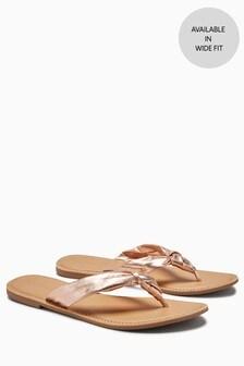 Knot Toe Post Sandals