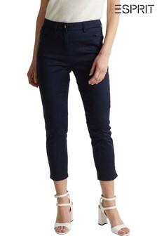 מכנסי צ'ינואלגנטיים שלEsprit בצבעכחול