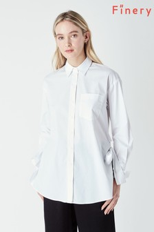 Finery White Lewis White Tie Side Shirt