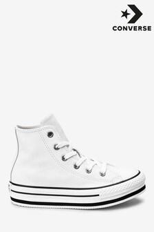 Zapatillas de deporte abotinadas de niño con plataforma de Converse