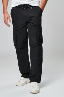 Belted Tech Cargo Trousers