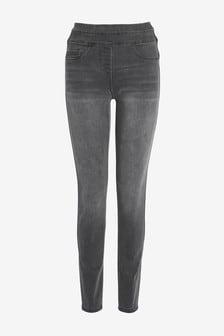 Ультрамягкие моделирующие джинсовые леггинсы без застежек