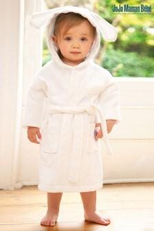 روب قماش منشفة أبيض أرنب منJoJo Maman Bébé