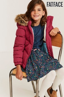 FatFace Red Elsie Coat