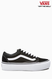 Vans Black/White Platform Old Skool Trainers