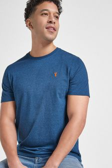 T-Shirt mit Hirschmotiv im Regular-Fit