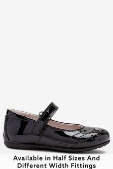 皮革星星瑪麗珍鞋 (大女孩)