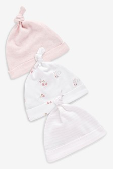 3 Pack Tie Top Hats (0-18mths)
