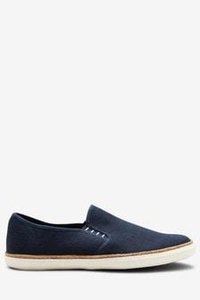 Zapatos sin cierres de lona y yute