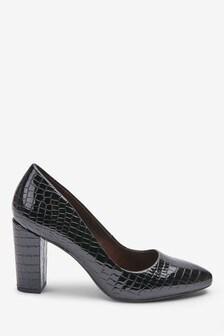Туфли-лодочки с блочным каблуком и миндалевидным носком