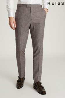 Reiss Fome Cotton/Linen Blend Slim Fit Trousers