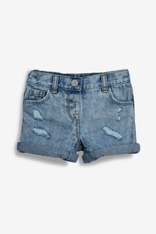 מכנסיים קצרים עם קרעים (3 חודשים-7 שנים)