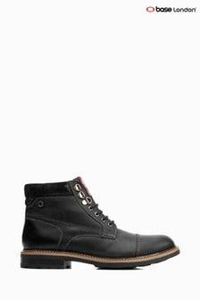 Base London® Black Winston Lace-Up Boots