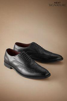 Kožené oxfordské topánky Signature s vyrazeným vzorom z talianskej kože