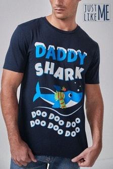 Lizenz-T-Shirt mit Weihnachtsmotiv für Herren, Teil der Familien-Kollektion