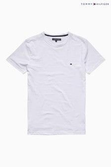 חולצת טי לבנה חדשה נמתחת של Tommy Hilfiger