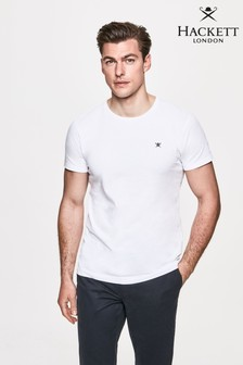 Hackett White Logo T-Shirt