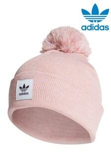 Różowa czapka beanie z pomponem adidas Originals