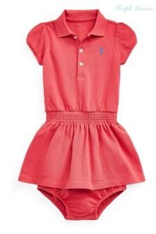 Красное платье полоRalph Lauren