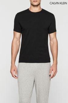 מארז שתי חולצות Calvin Klein עם צווארון עגול ושרוולים קצרים, בצבע שחור