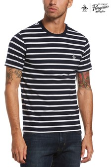 Original Penguin® Blue Breton Stripe T-Shirt