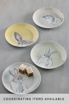 Set of 4 Bunny Side Plates