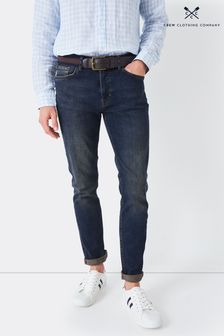 Crew Clothing Company Spencer schmale Jeans, blau
