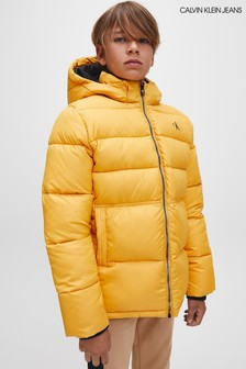Calvin Klein Jeans Yellow Essential Padded Jacket