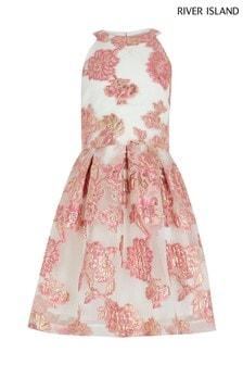 River Island Pink Organza Prom Dress