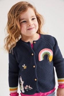 賓尼兔卡通開襟毛衣 (3個月至7歲)