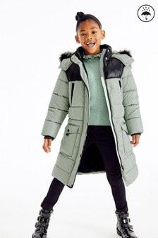 Непромокаемая дутая куртка в стиле колор блок (3-16 лет)