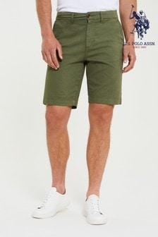 U.S. Polo Assn. Green Classic Chino Shorts