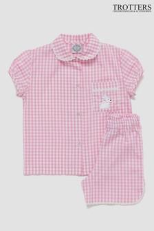 Trotters London Pink Alexandra Pyjamas