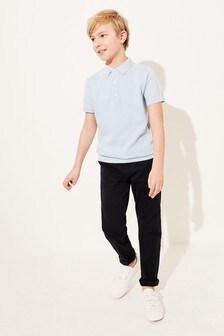 Фактурная футболка-поло (3-16 лет)