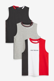 3 Pack Colourblock Tanks (3-16yrs)