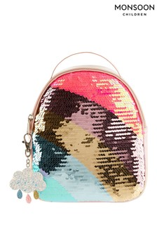 Monsoon Rainbow Sequin Backpack with Keyring