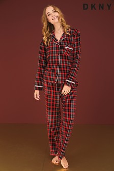 DKNY Fleece Notch Collar Pyjama Set