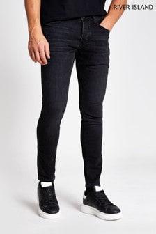 Черные зауженные джинсы River Island