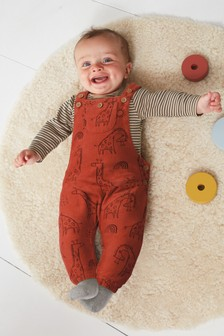 Cord Dungarees And Bodysuit Set (0mths-2yrs)