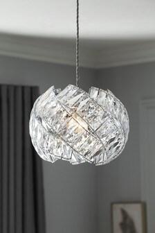 Chrome Belgravia Easy Fit Pendant Lamp Shade