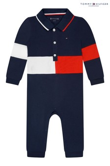 Tommy Hilfiger Blue Baby Flag Polo Coverall