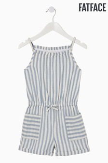 FatFace Blue Sparkle Stripe Playsuit